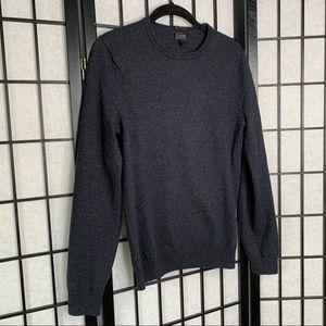 J. Crew Men's Wool Slim Fit Sweater Blue Small